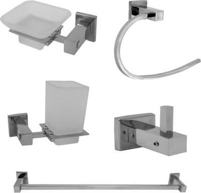 Klaxon Stainless Steel Bathroom Set