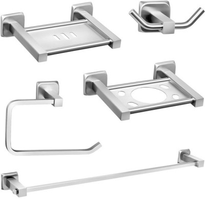 Doyours 5 Pieces Bathroom Accessories Set (Set-S6) Stainless Steel Bathroom Set