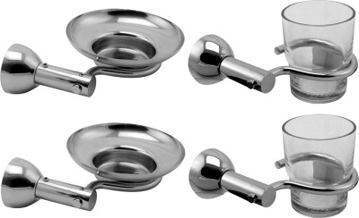 Klaxon Krypton Stainless Steel Bathroom Set