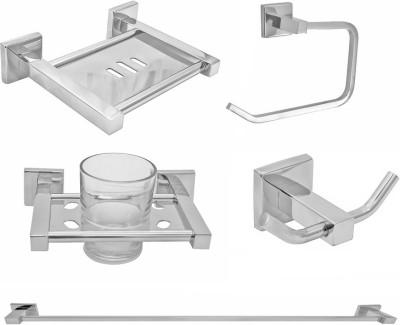 Klaxon Stainless Steel Bathroom Set(Pack of 5)