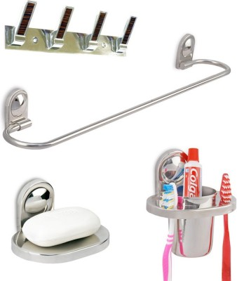Doyours Stainless Steel 4 Pieces Washroom Accessories Set (D1 series) Stainless Steel Bathroom Set