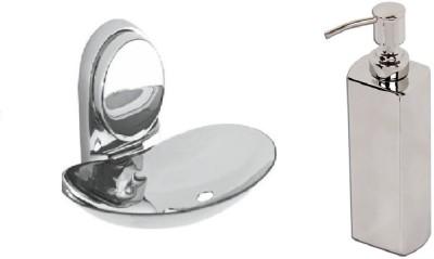 DEVICE IN LION GLOSSY Steel Bathroom Set