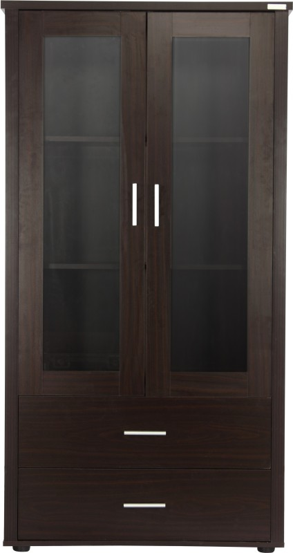 Godrej Interio 2D Engineered Wood Display Unit(Finish Color - Walnut)