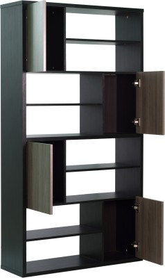 Woodstock India Solid Wood Display Unit(Finish Color - Brown)
