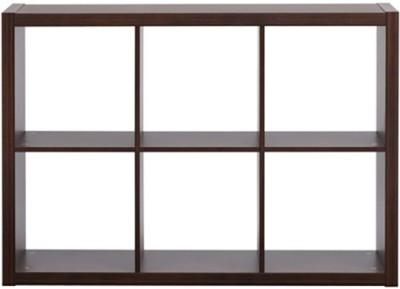 Urban Ladder Boeberg 3 x 2 Engineered Wood Display Unit(Finish Color - Dark Walnut)