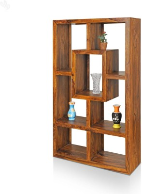 Royal Oak Emerald Solid Wood Display Unit(Finish Color - Honey Brown)
