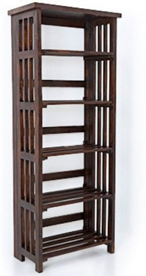 Urban Ladder Rhodes Folding Solid Wood Display Unit(Finish Color - Mahogany)