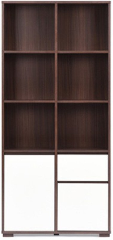 Urban Ladder Iwaki Engineered Wood Display Unit(Finish Color - Dark Walnut)