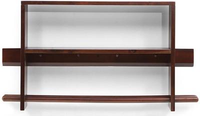 Urban Ladder Ibex Rectangular Solid Wood Display Unit(Finish Color - Dark Walnut)