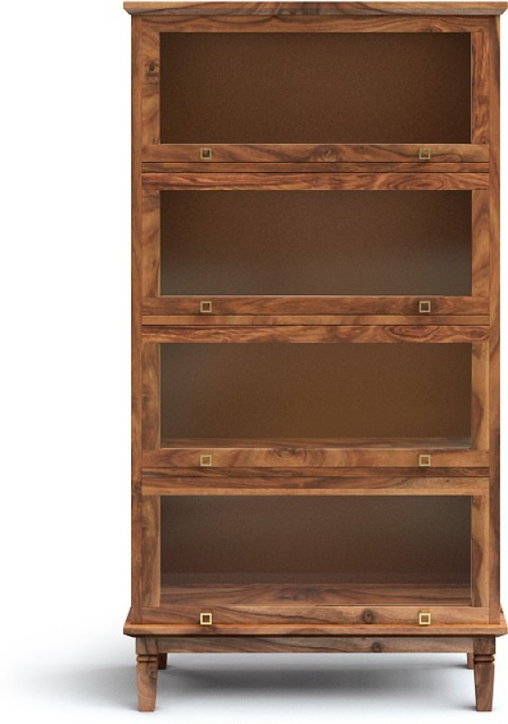Urban Ladder Malabar Barrister Solid Wood Display Unit(Finish Color - Teak)