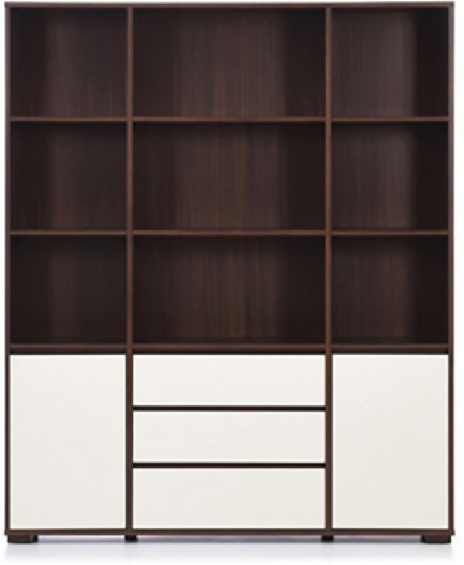 Urban Ladder Iwaki Triple Engineered Wood Display Unit(Finish Color - Dark Walnut)