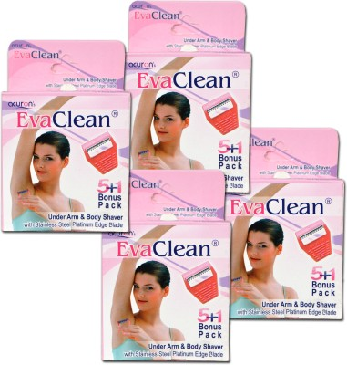 Acuron Eva Clean (Underarm And Body Shaver For Women) Disposable Razor(Pack of 24)