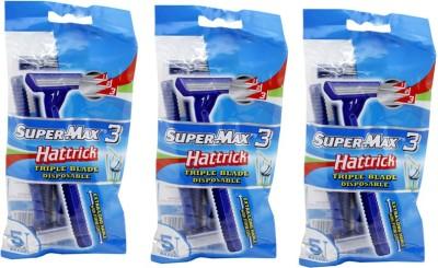 Super Max 3 Hattrick Triple Blade  Disposable Razor(Pack of 3)
