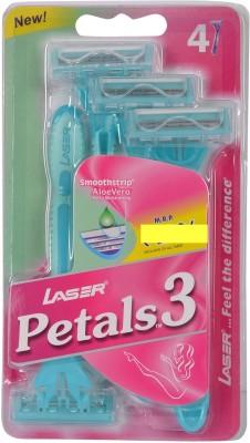 Laser Petals3 Disposable Razor(Pack of 4)