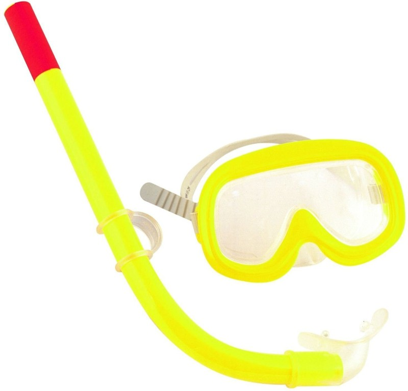 Shrih Yellow Swimming Snorkel Diving Mask(M)