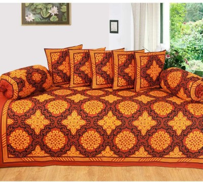 Decor Vatika Cotton Abstract Diwan Set