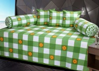 Decor Vatika Cotton Checkered Diwan Set