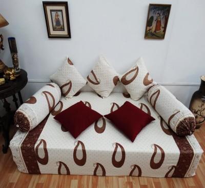 Heritage Fabs Cotton Paisley Diwan Set