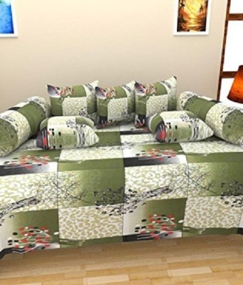 ZirconHomes Cotton Abstract Diwan Set