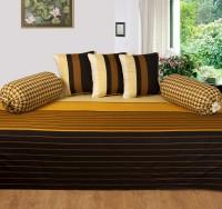 Optimistic Home Furnishing Cotton Striped Diwan Set