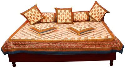 Kiran Udyog Cotton Embroidered Diwan Set