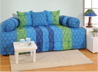 Swayam Cotton Abstract Diwan Set(1 Diwan Sheet, 3 Cushion Covers, 2 Bolster Covers)