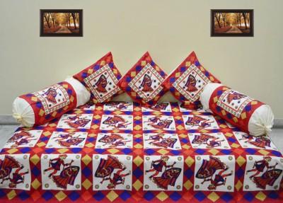 RajasthaniKart Cotton Abstract Diwan Set