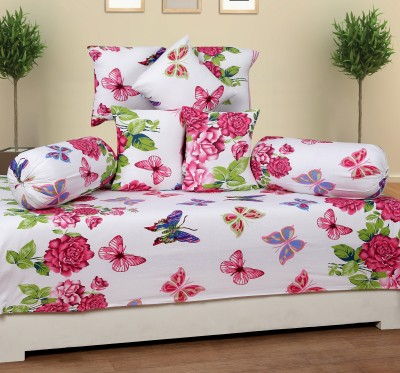 ShopSince Cotton Floral Diwan Set