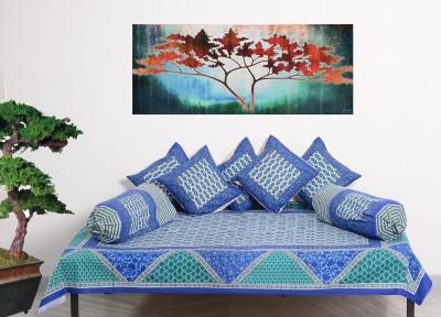 RajasthaniKart Cotton Floral Diwan Set