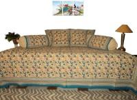 Amita Home Furnishing Cotton Floral Diwan Set