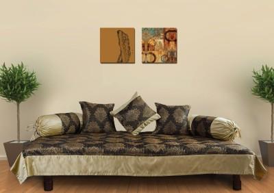 Zaffre,s Polyester Damask Diwan Set