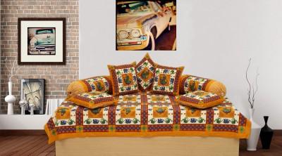 Rajasthani Print Cotton Floral Diwan Set