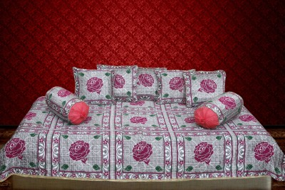 Furnishing Kingdom Polycotton Floral Diwan Set