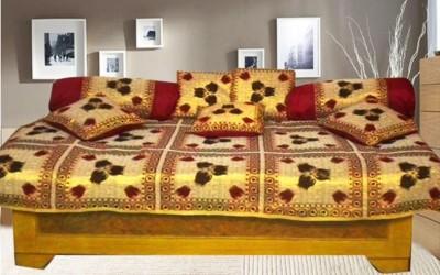 Optimistic Home Furnishing Polycotton Floral Diwan Set