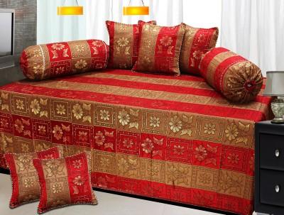 Milan Polycotton, Silk Striped Diwan Set