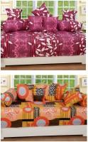 Zain Cotton Floral, Geometric Diwan Set