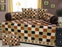 P Home Decor Velvet Checkered Diwan Set