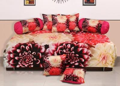 Dekor World Polyester Floral Diwan Set