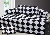 Zain Cotton Checkered Diwan Set