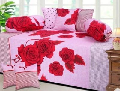 ZirconHomes Cotton Floral Diwan Set