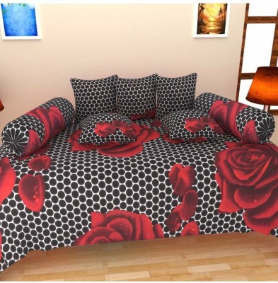 Attractivehomes Cotton Abstract Diwan Set