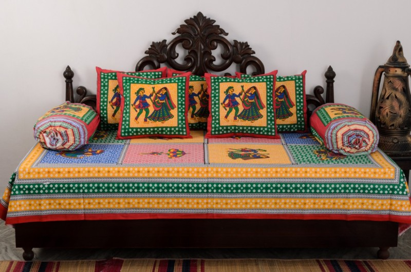 Vivid Rajasthan Cotton Abstract Diwan Set