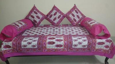 Miracle Furnishings Cotton Abstract Diwan Set