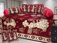 Kanhaa Jacquard Embroidered Diwan Set