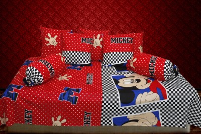 Furnishing Kingdom Polycotton Checkered Diwan Set
