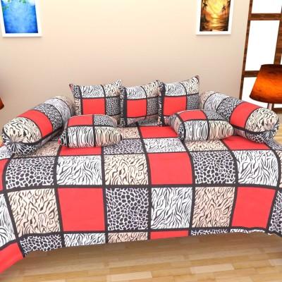 The Decor Hub Cotton Checkered Diwan Set