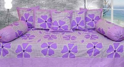 Singhs Villas Decor Cotton Floral Diwan Set