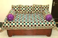 Creative hub Velvet Checkered Diwan Set