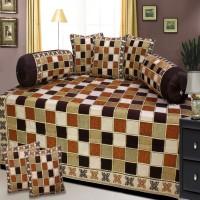 Lookandlike Velvet Checkered Diwan Set