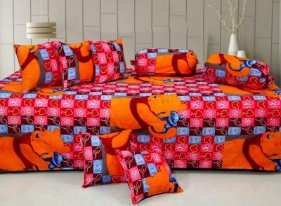 Optimistic Home Furnishing Cotton Cartoon Diwan Set